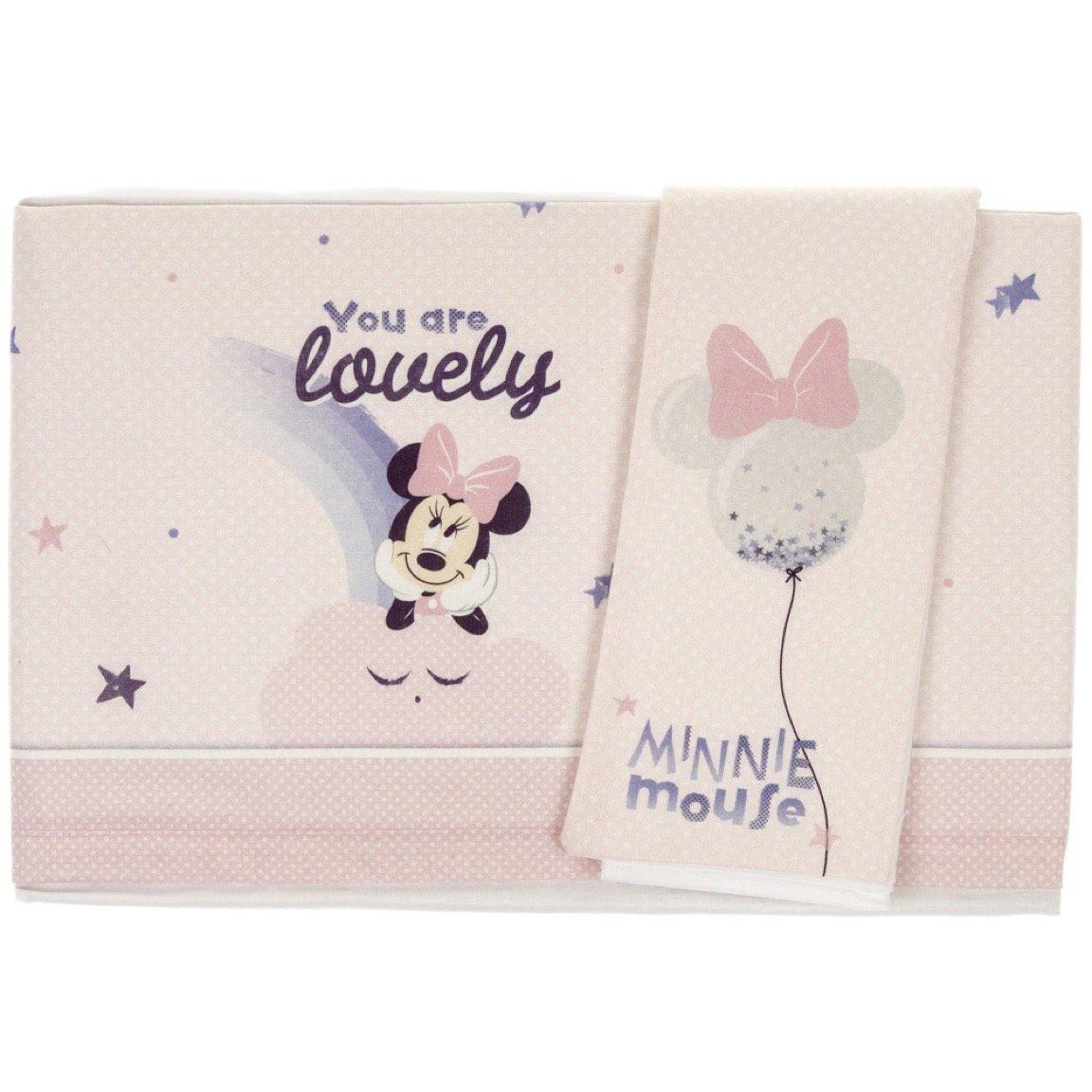Disney σεντόνια σετ τριών τεμαχίων για παιδικό κρεβάτι (κούνια) «Minnie Mouse»