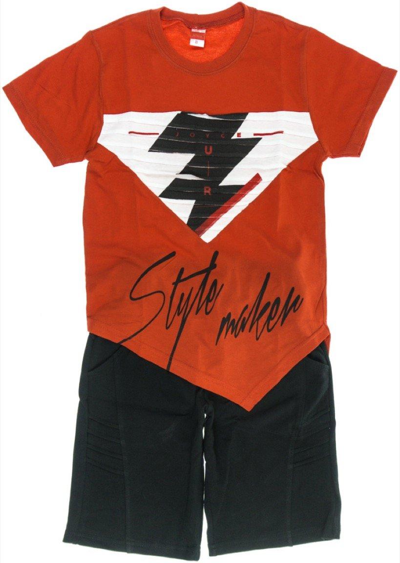 Joyce παιδικό σετ μπλούζα-παντελόνι σορτς βερμούδα «Red Style»