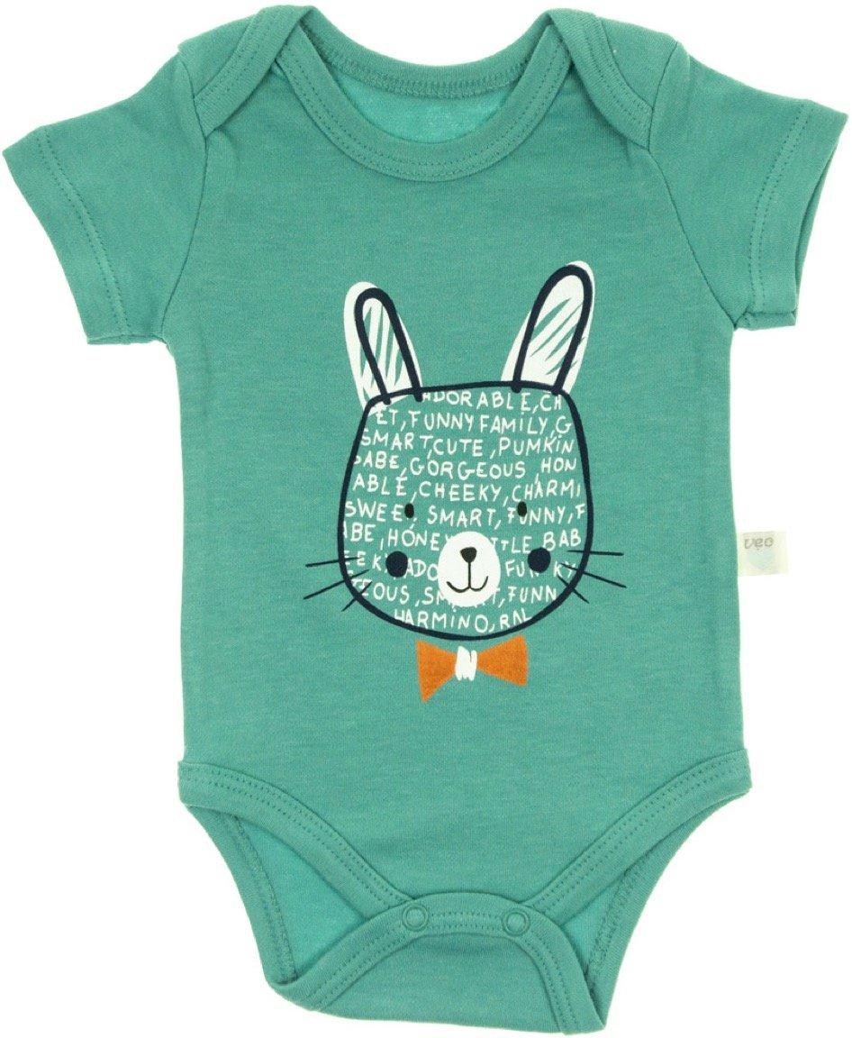 Veo Baby βρεφικό κορμάκι «Green Funny Bunny»
