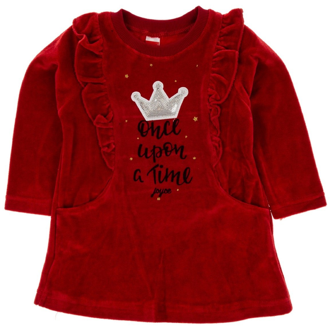Joyce παιδικό βελουτέ φόρεμα «Once Upon a Time»