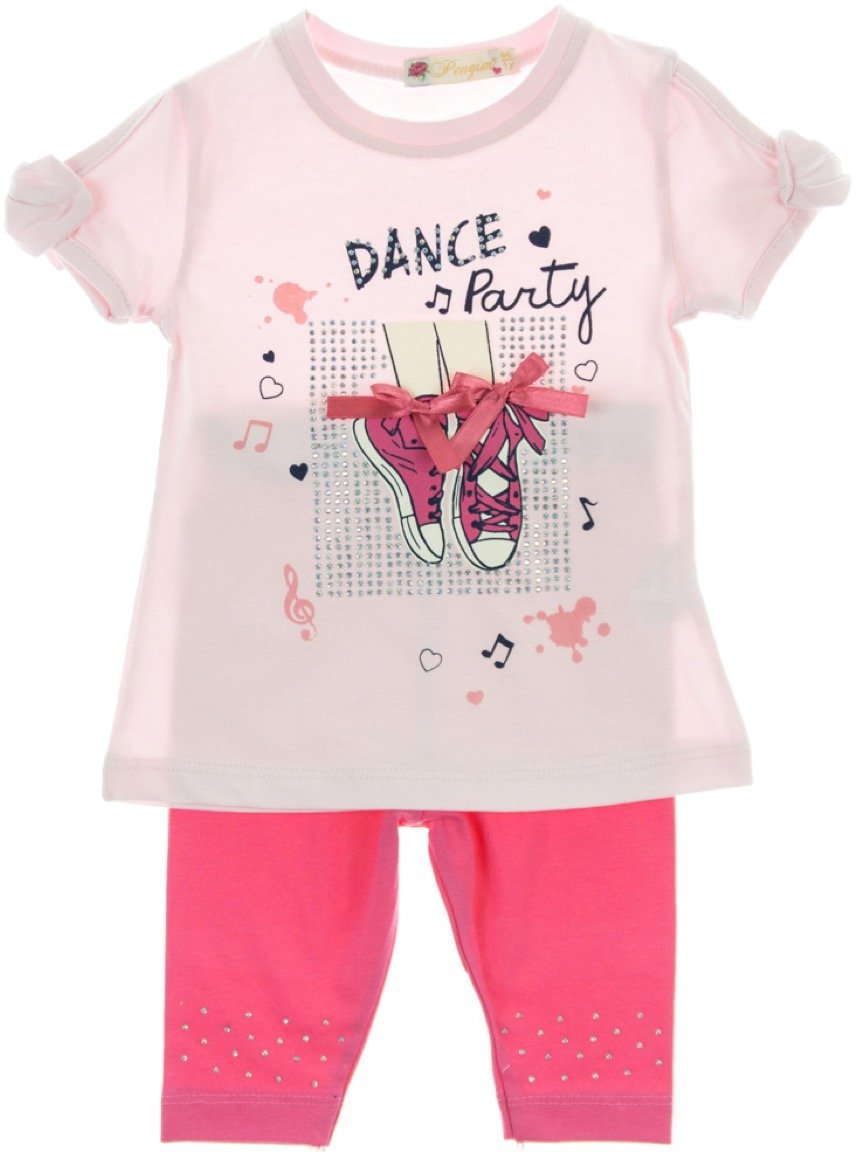 Pengim παιδικό σετ μπλούζα-παντελόνι κολάν κάπρι «The Dance Party»