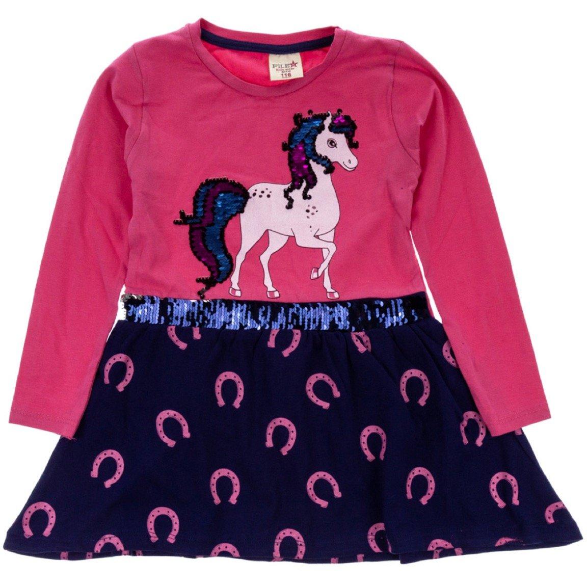 File παιδικό εποχιακό φόρεμα «Fuchsia Proud Unicorn»
