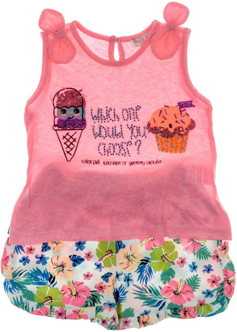 Εβίτα παιδικό σετ μπλούζα-παντελόνι σορτς «Choose»