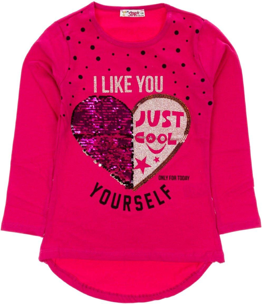 Mix Star παιδική εποχιακή μπλούζα «Like Yourself Fuchsia»