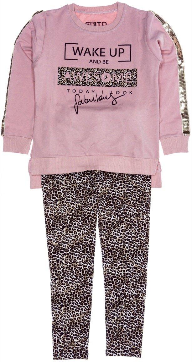Εβίτα παιδικό σετ μπλούζα-παντελόνι κολάν «Be Awesome»