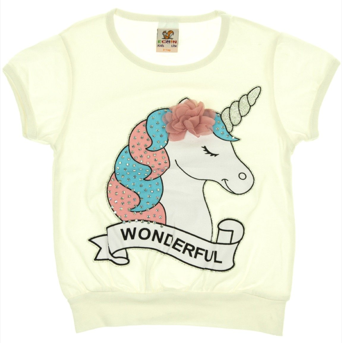 Ecrin παιδική μπλούζα «The Wonderful Ecru Unicorn»