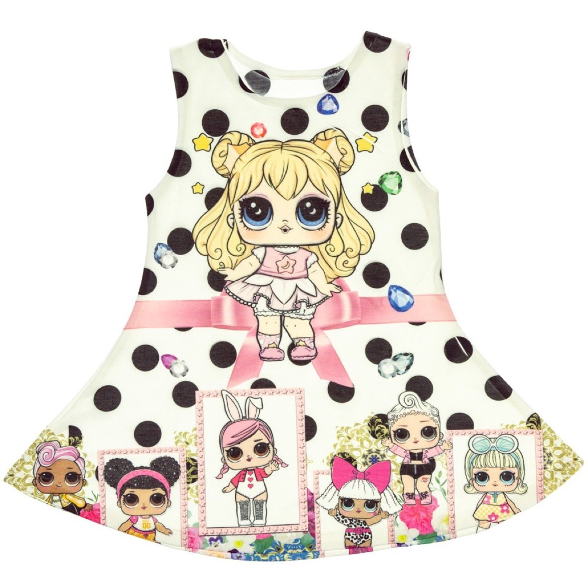 ΑΖ παιδικό φόρεμα «LOL & Diamonds»