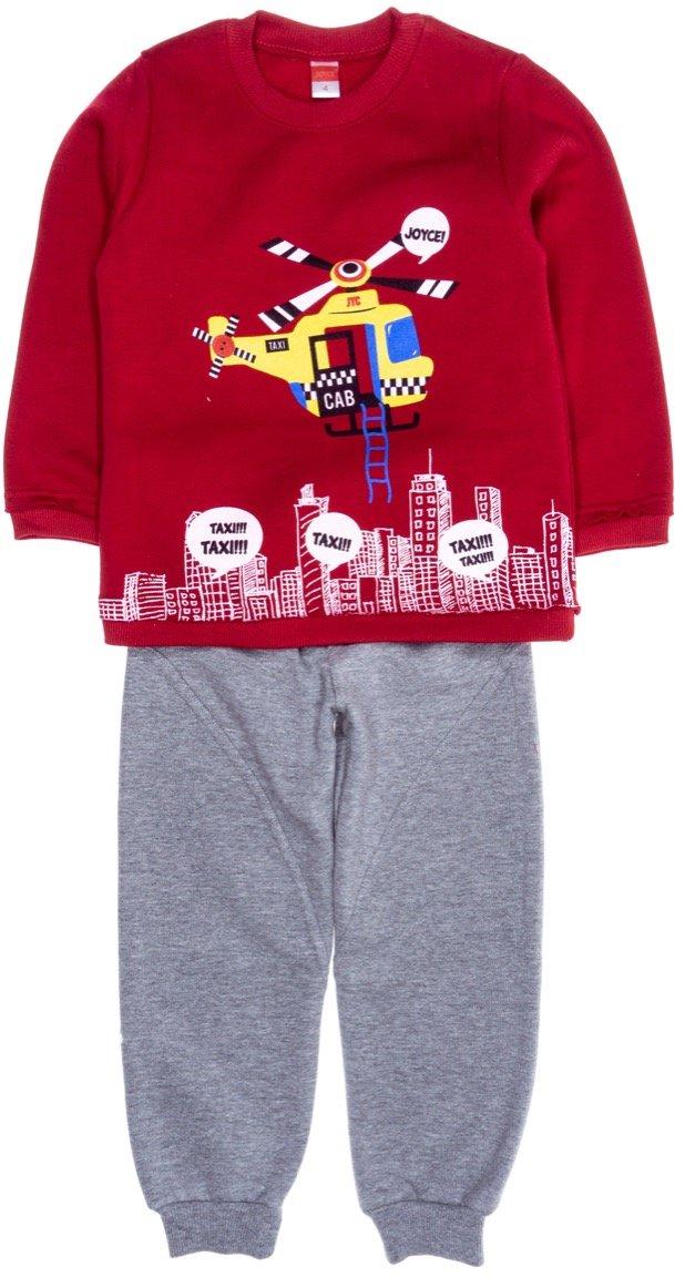 Joyce παιδικό σετ φόρμα μπλούζα-παντελόνι «Red Heli Cab»