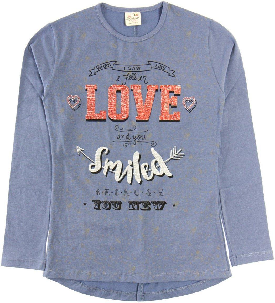 """Zelish παιδική εποχιακή μπλούζα """"Blue Love And Smile"""""""