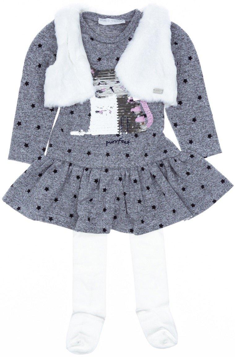 Εβίτα παιδικό σετ φόρεμα-μπολερό-καλσόν «Perfect»