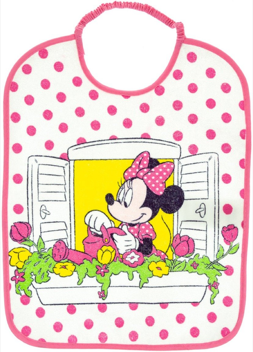 Disney βρεφική σαλιάρα φαγητού «Minnie's Pink Balcony»