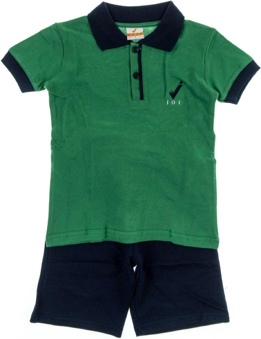 Joi παιδικό σετ μπλούζα-παντελόνι βερμούδα «Green Polo»