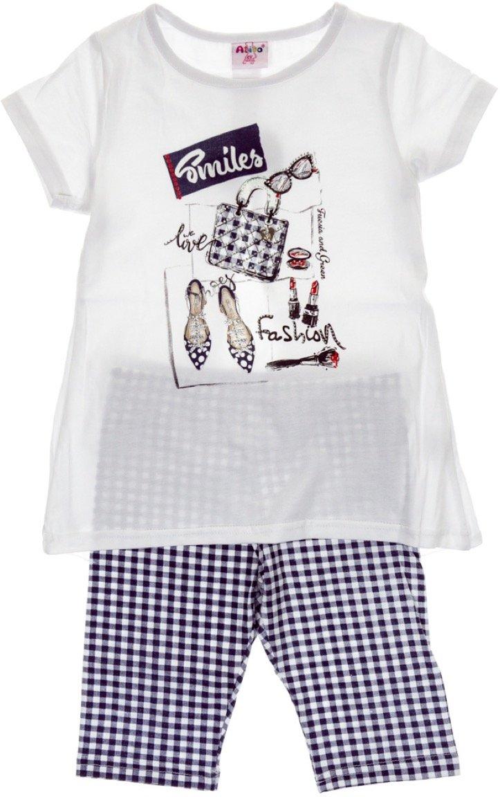 Ativo παιδικό σετ μπλούζα-παντελόνι κολάν κάπρι «Blue Smiles»