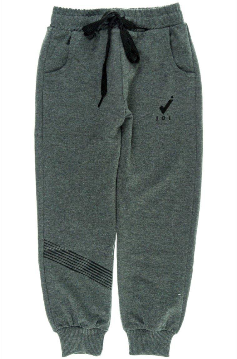 Joi παιδικό εποχιακό παντελόνι φόρμας «Grey Embossed»
