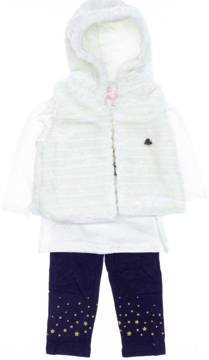 Εβίτα βρεφικό σετ γιλέκο-μπλούζα-κολάν «Cute Winter»
