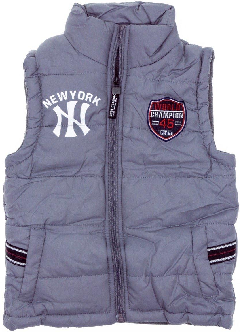 AΖ παιδικό αμάνικο μπουφάν «Grey New York»
