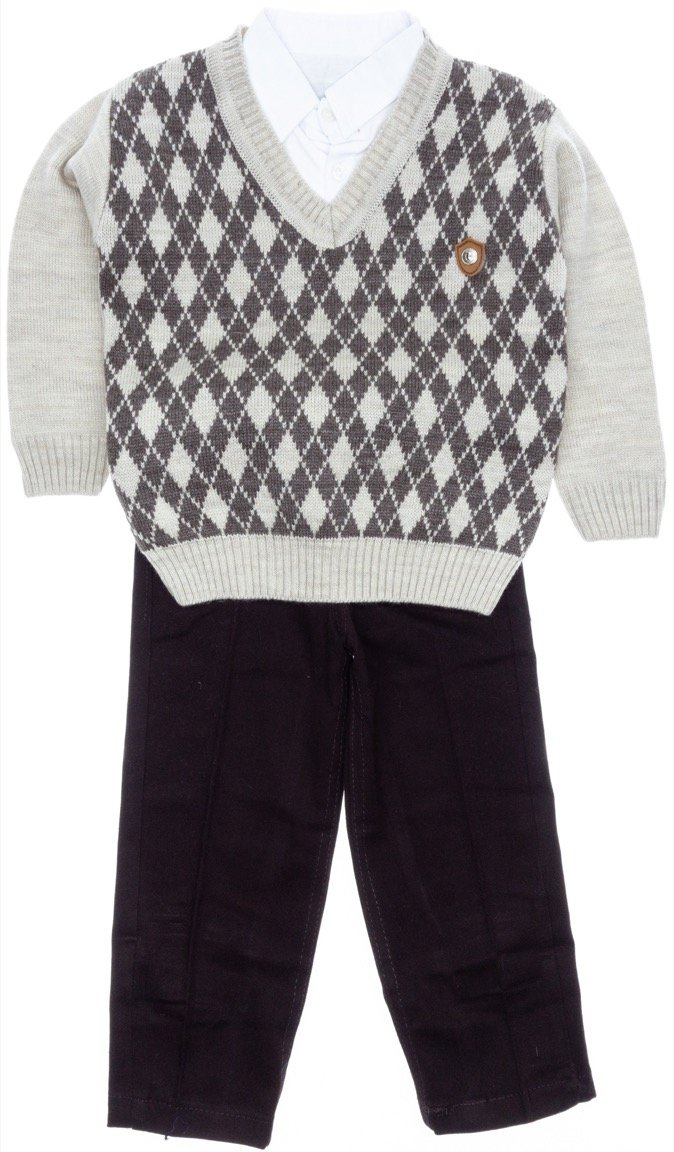 Palermo παιδικό αμπιγιέ σετ μπλούζα, πουκάμισο, παντελόνι «Jumper»