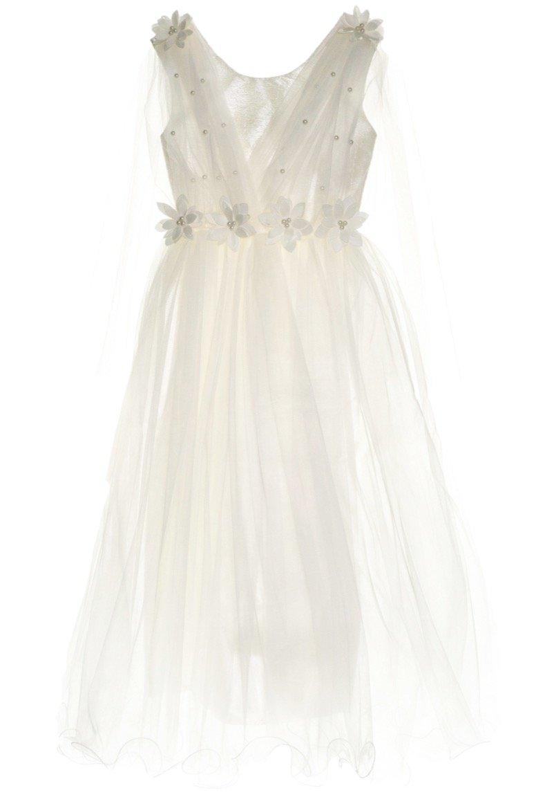 Ken Club παιδικό αμπιγιέ φόρεμα «White Onesta»