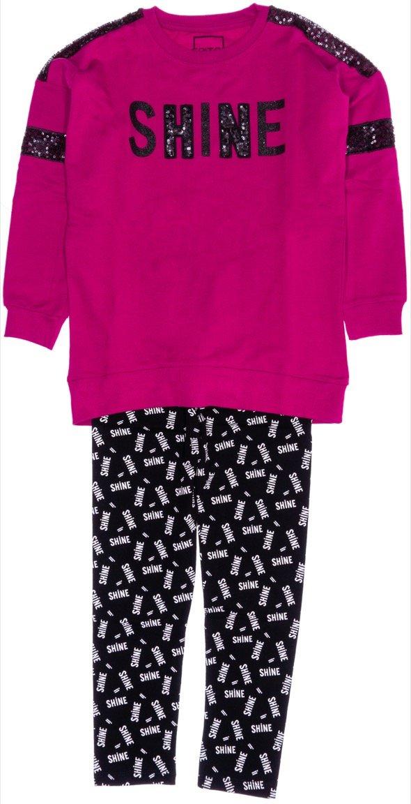 Εβίτα παιδικό εποχιακό σετ μπλούζα-παντελόνι κολάν «The Shine»