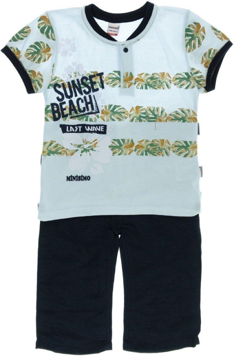 Minisimo παιδικό σετ μπλούζα-παντελόνι βερμούδα «Sunset»