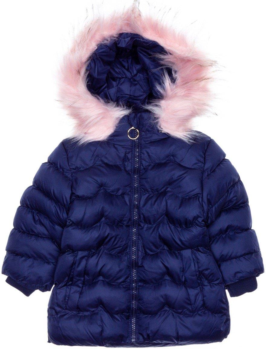Lady Moda παιδικό μπουφάν με αποσπώμενη κουκούλα «Blue Puffy»