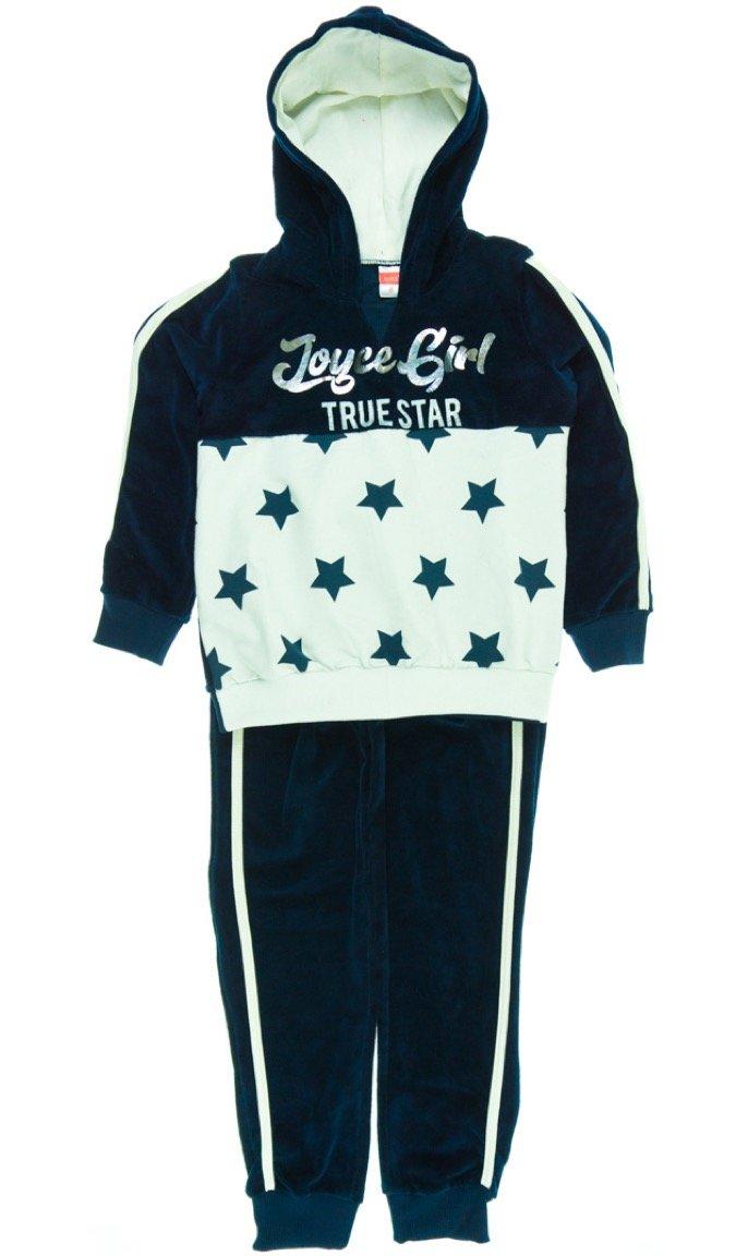Joyce παιδικό σετ φόρμα μπλούζα-παντελόνι «Blue Velvet Stars»