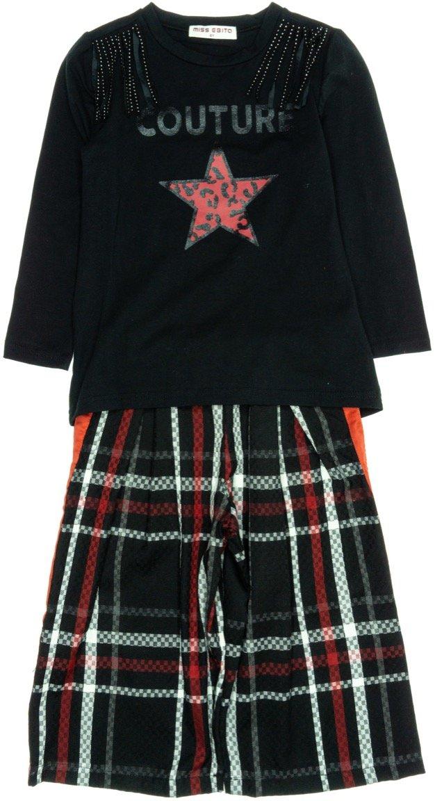 Εβίτα παιδικό σετ μπλούζα-παντελόνα κοντή «Couture»