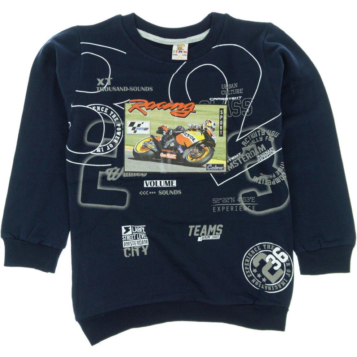 Ecrin παιδική εποχιακή φούτερ μπλούζα «Blue Racing»