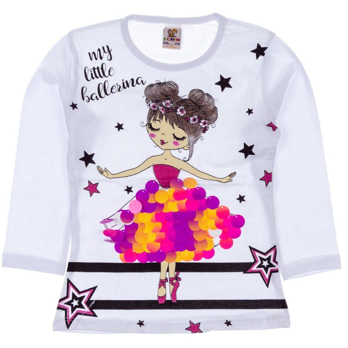 Ecrin παιδική εποχιακή μπλούζα «My Little Ballerina»