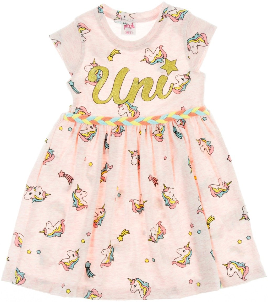 Baby Pink παιδικό φόρεμα «Pink Uni»