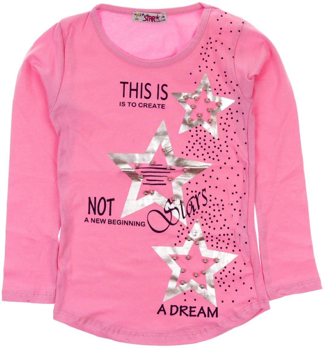 Mix Star παιδική εποχιακή μπλούζα «Dream Pink Stars»