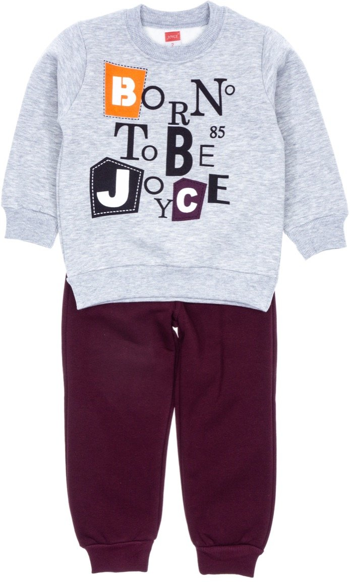 Joyce παιδικό σετ φόρμα μπλούζα-παντελόνι «Born to Be»