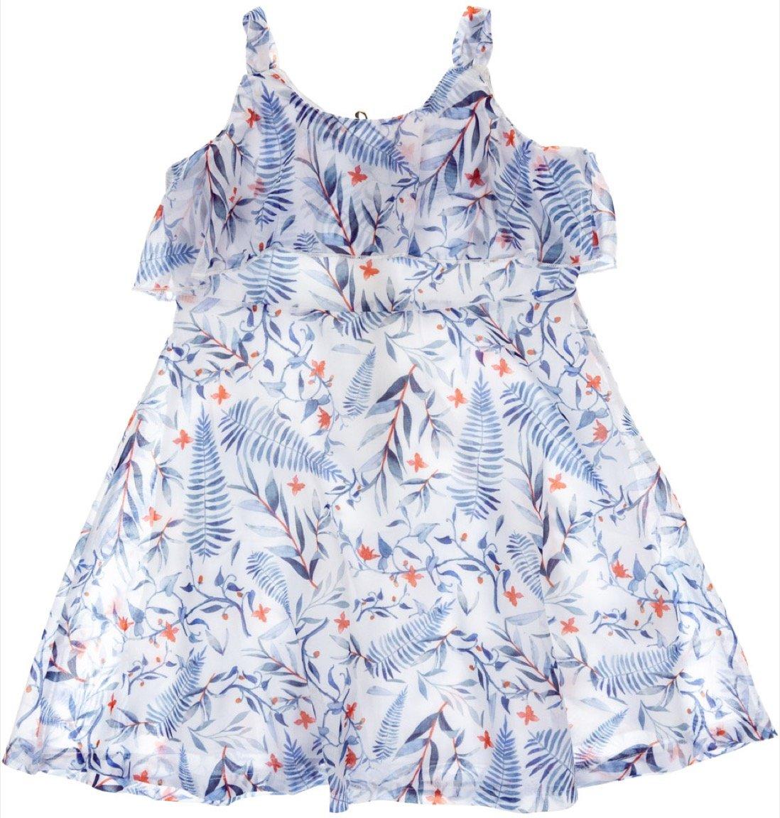 Ativo παιδικό φόρεμα «Blue Leafs»