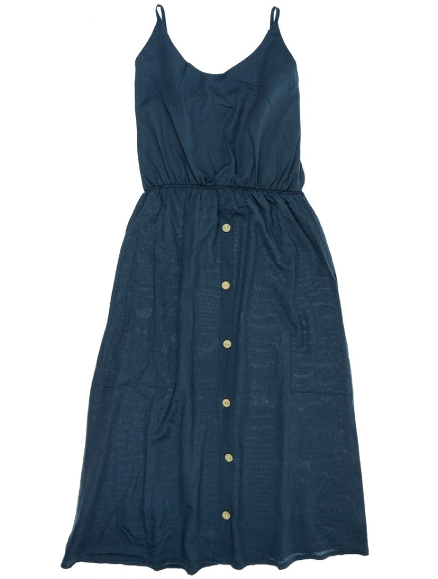 Adyes γυναικείο φόρεμα «Plain Blue»