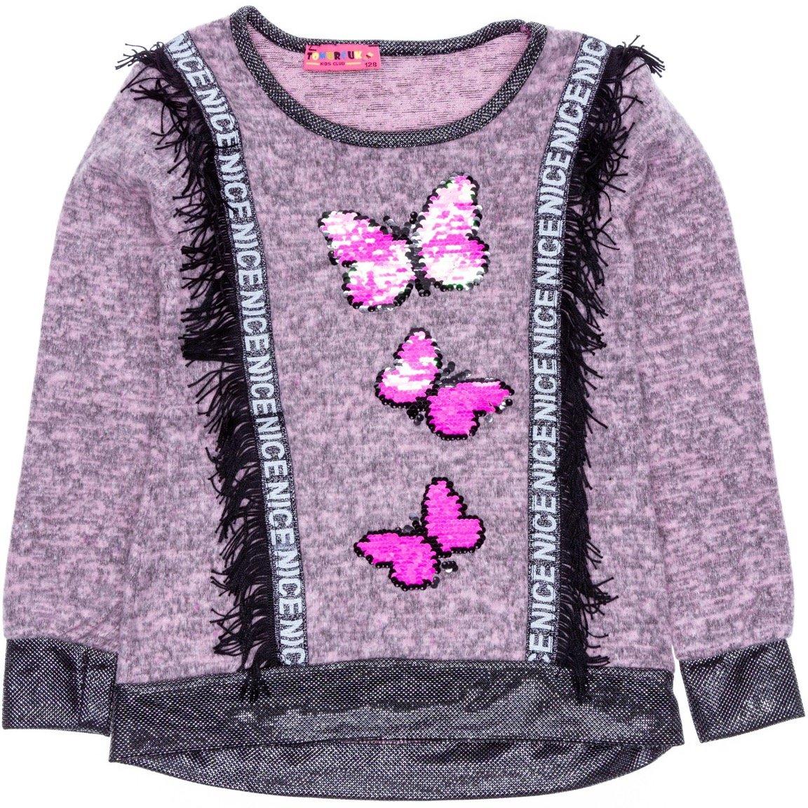 Tomurcuk παιδική μπλούζα «Nice Butterflies»