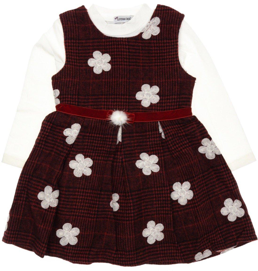 Luisa Chic παιδικό σετ φόρεμα-μπλούζα «Woolen Daisies»