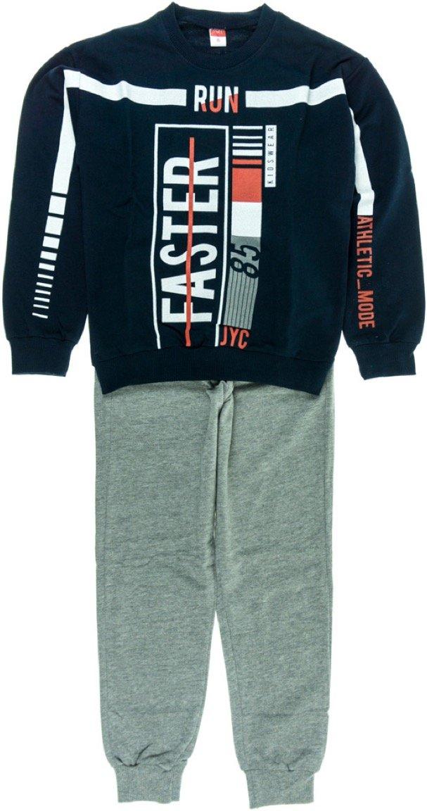 Joyce παιδικό εποχιακό σετ φόρμα μπλούζα-παντελόνι «Run Faster»