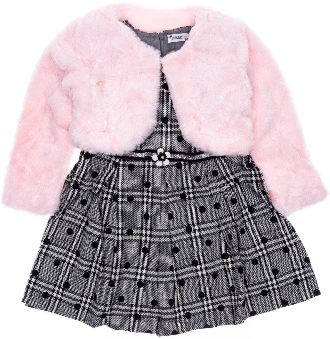 Luisa Chic παιδικό αμπιγιέ φόρεμα και μπολερό «Dots»