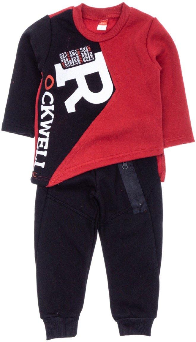 Joyce παιδικό σετ φόρμα μπλούζα-παντελόνι «Red Rockwell»