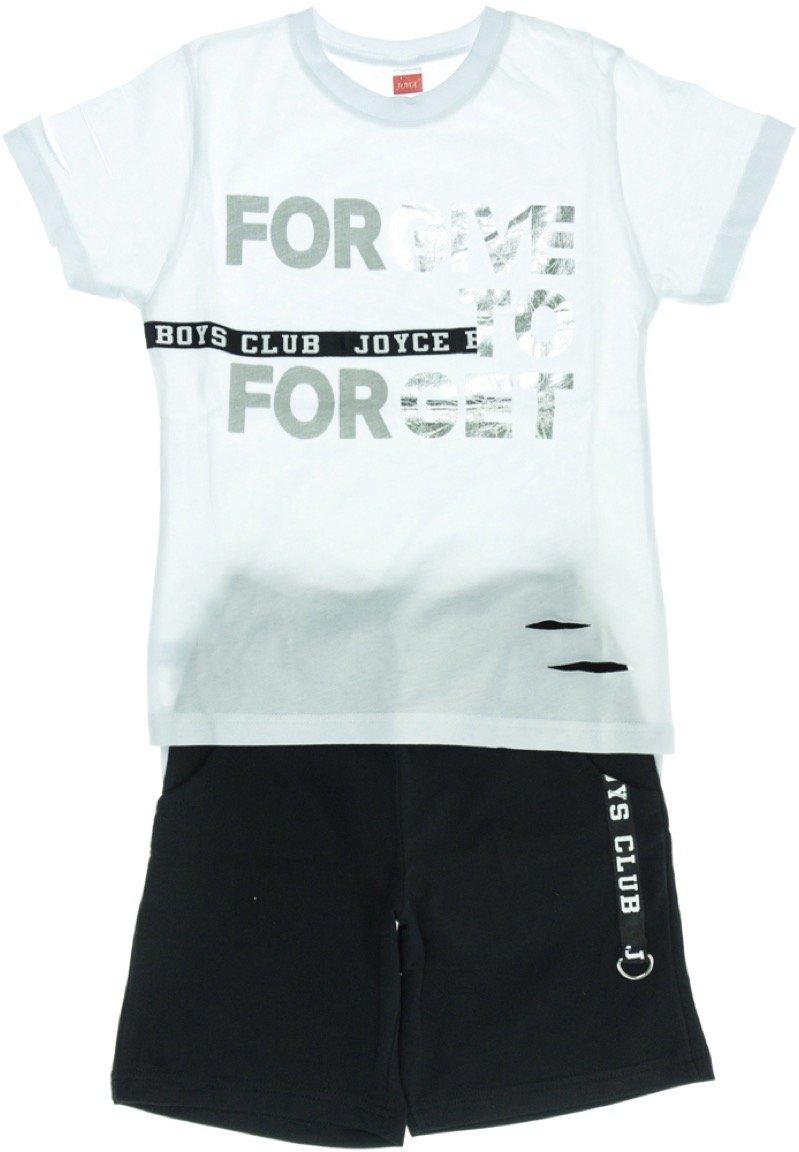 Joyce παιδικό σετ μπλούζα-παντελόνι βερμούδα «Forgive Forget»