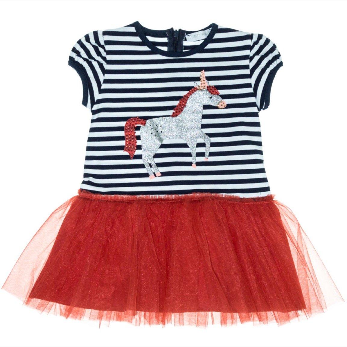 Εβίτα παιδικό φόρεμα «Silver Unicorn»