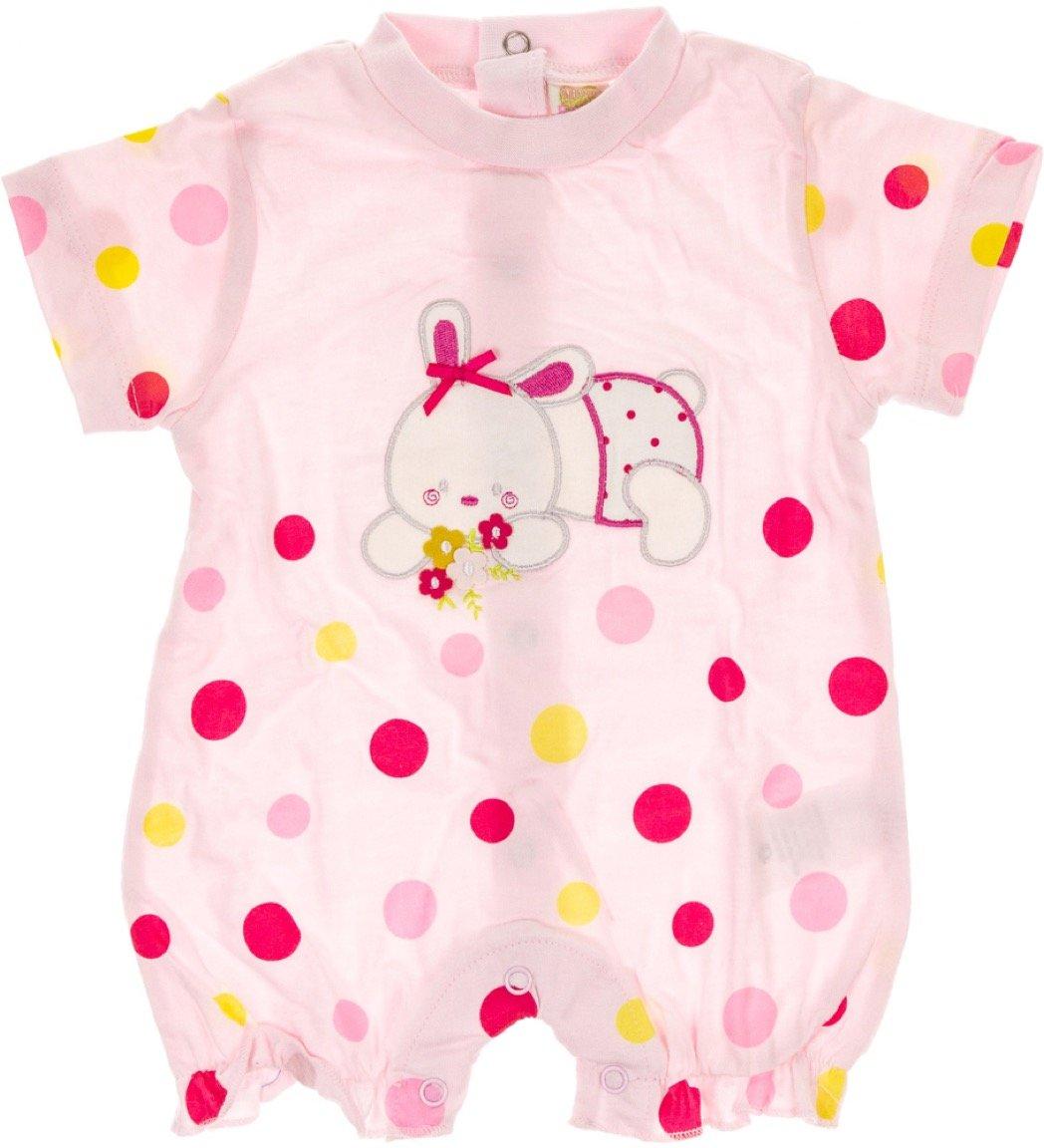 Miss Bellina βρεφικό φορμάκι «Pink Bunny»