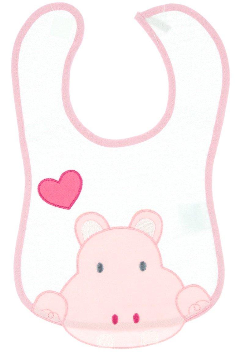 Buude βρεφική σαλιάρα φαγητού «Pink Hippo»
