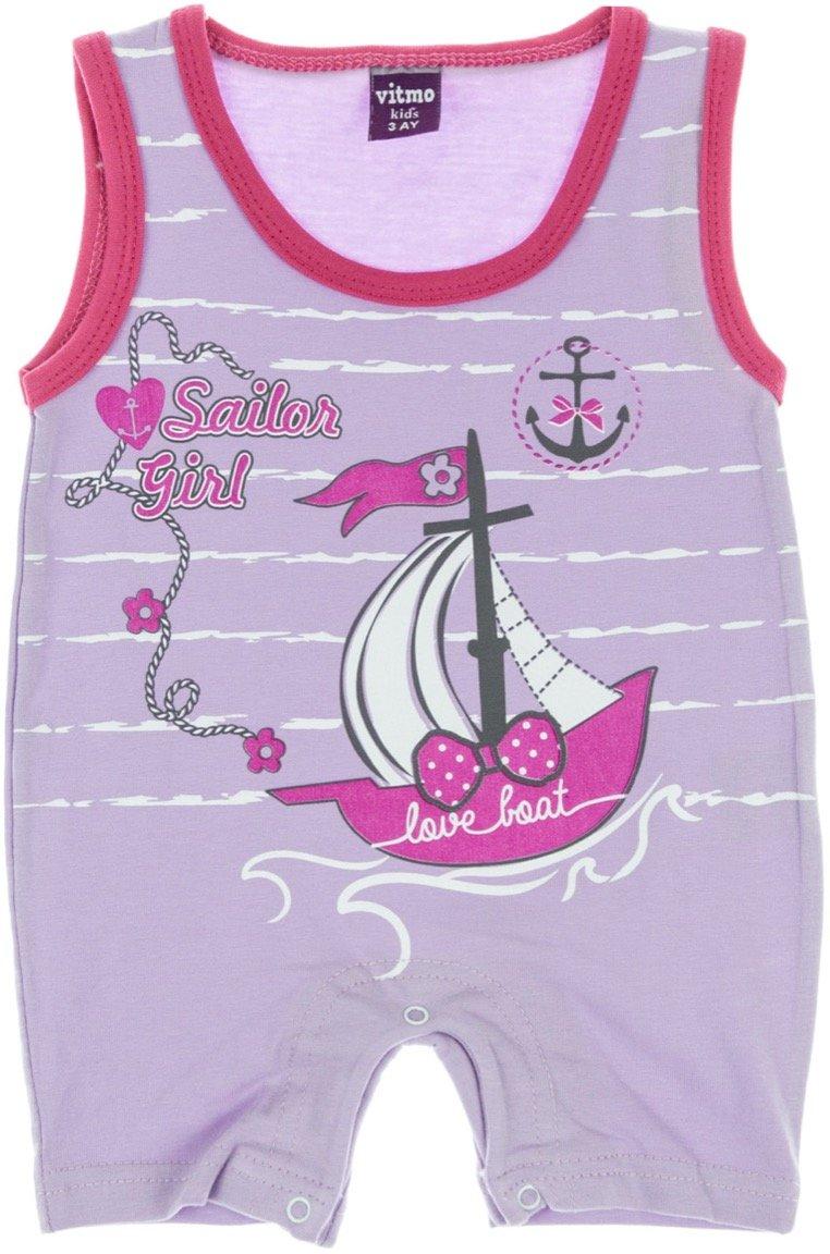 "Vitmo βρεφικό φορμάκι ""Purple Sailor Girl"""
