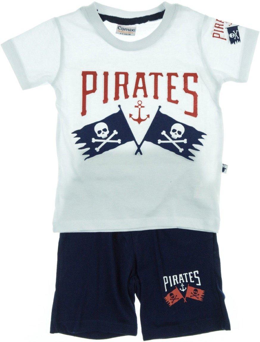 Comix Life παιδικό σετ μπλούζα-παντελόνι βερμούδα «Pirate»