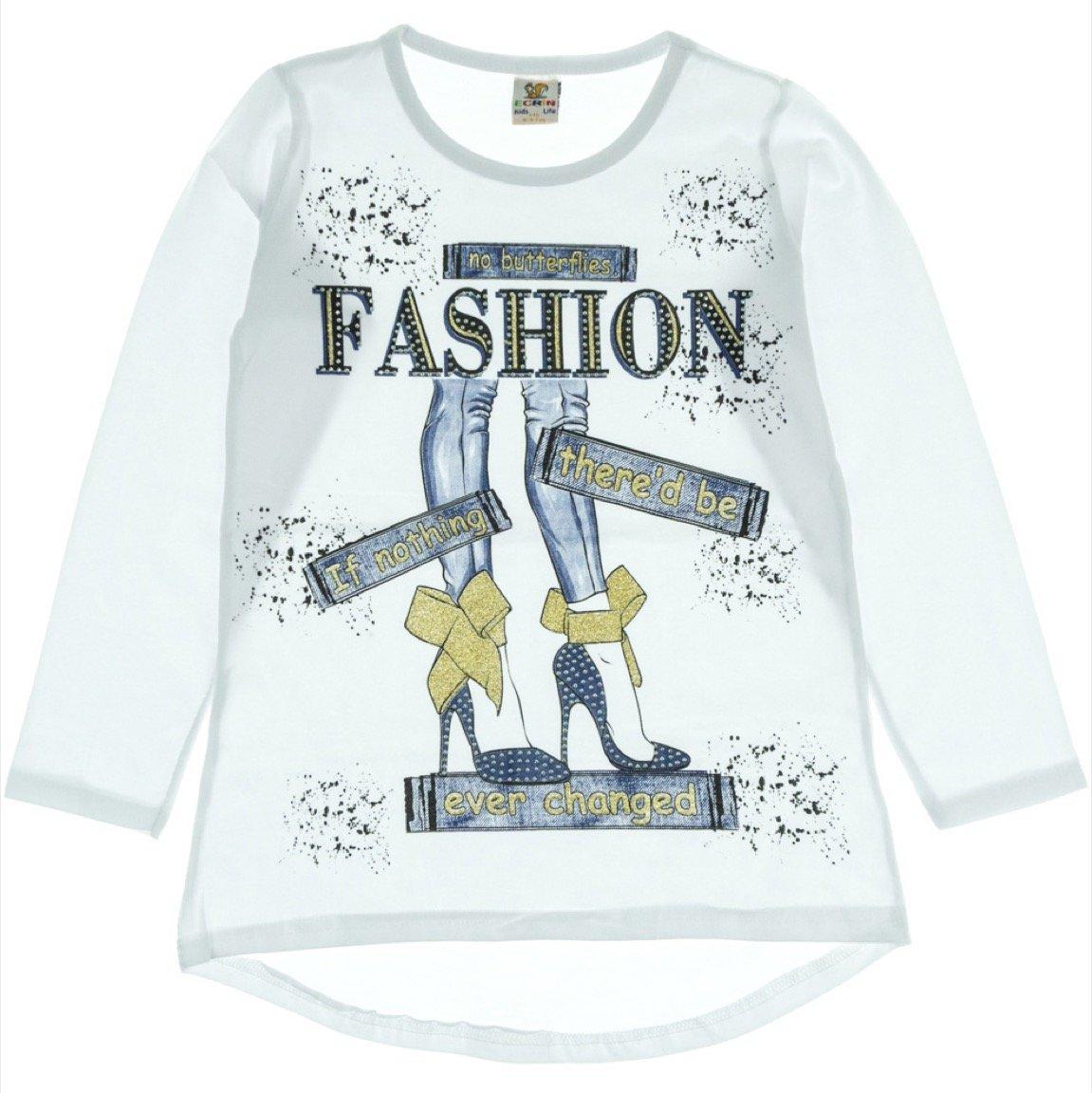 Ecrin παιδική εποχιακή μπλούζα «White Fashion»