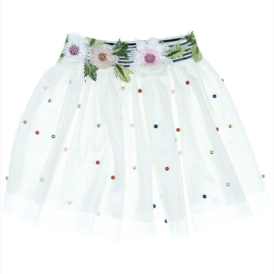Mini Citlenbik παιδική φούστα τουτου «Pearls and Flowers»
