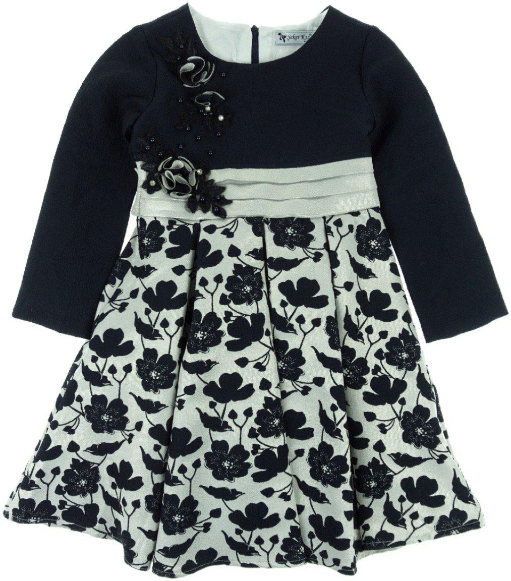 Seker παιδικό αμπιγιέ φόρεμα «Blue Paradise»