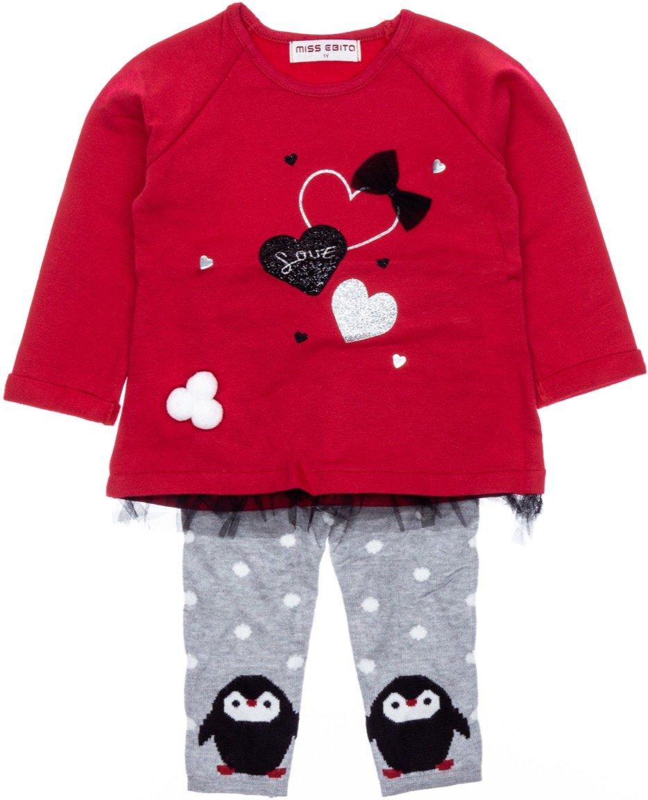 Εβίτα παιδικό σετ μπλούζα-παντελόνι-κολάν «Lovely Penguin»