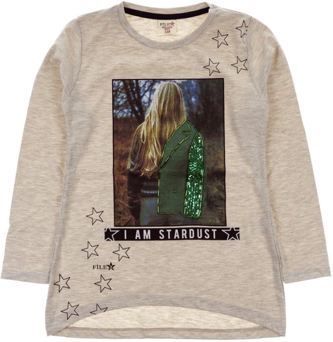 File παιδική εποχιακή μπλούζα «Beige Stardust»